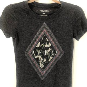 AEROPOSTALE gray graphic t-shirt